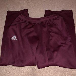 Maroon Adidas Men's Sweatpants